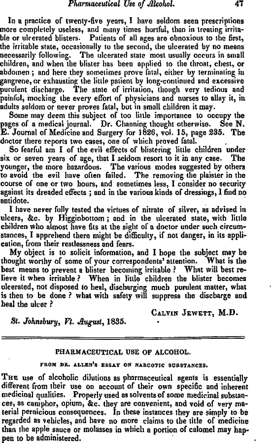 ... of Alcohol — From Dr. Allen's Essay on Narcotic ... Free first page