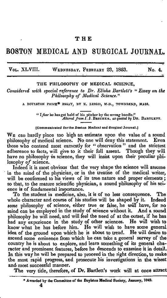 the philosophy of medical science considered special first page