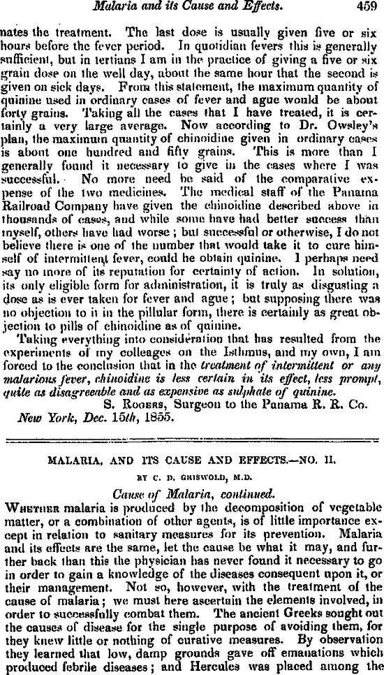 Malaria, and Its Cause and Effects   NEJM