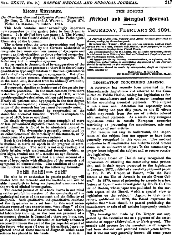 Legislation Concerning Arsenic The Role Of The Liver In The