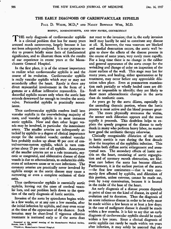 syphilis review article