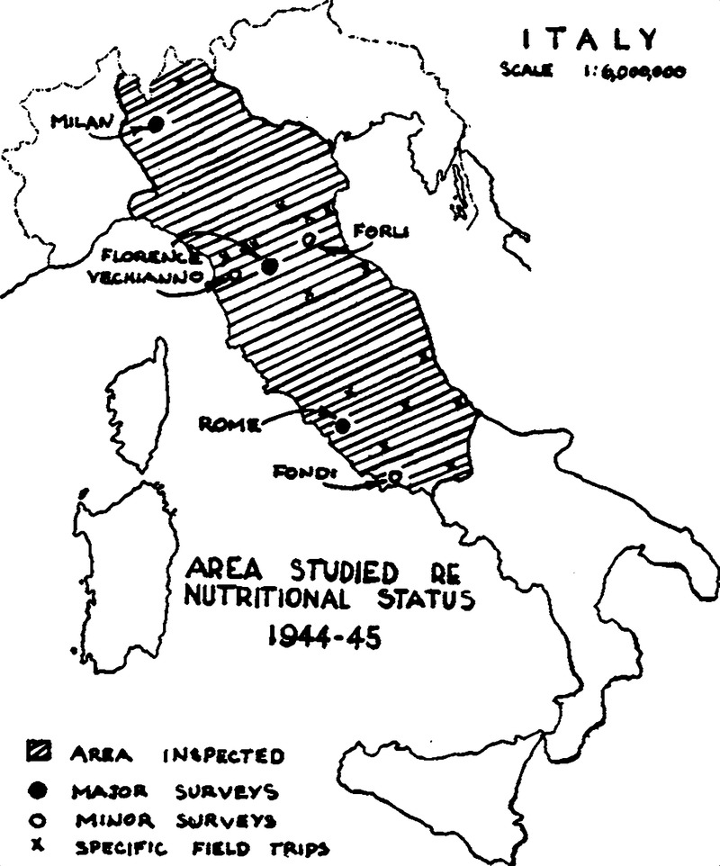 Clinical Malnutrition In Italy In 1945
