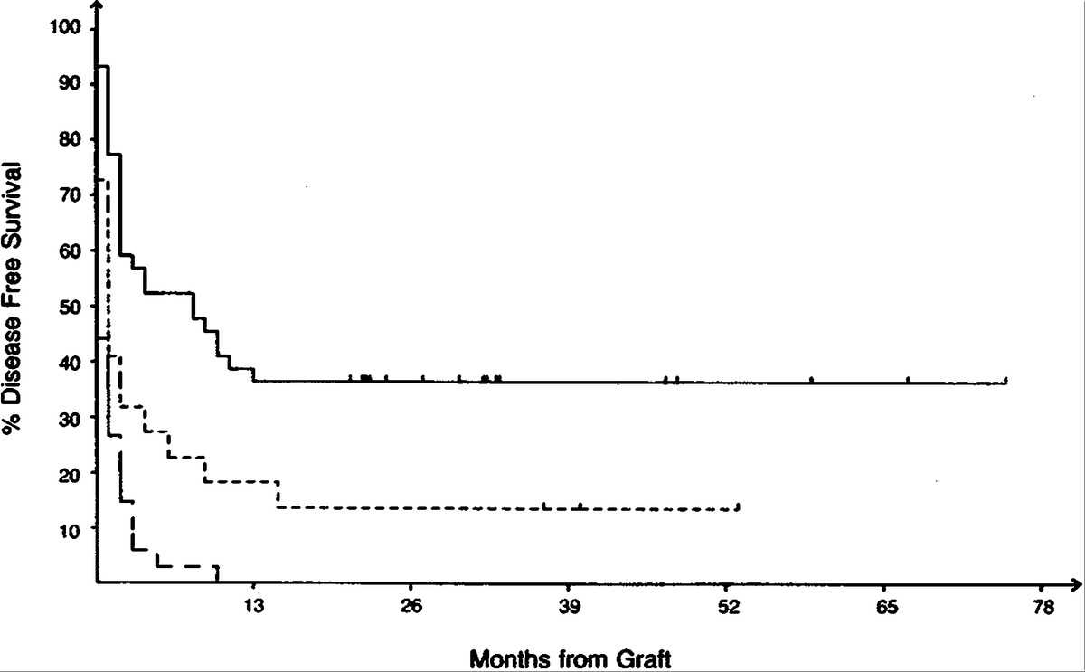 High dose therapy and autologous bone marrow transplantation after actuarial three year disease free survival according to response to initial or salvage chemotherapy the solid line indicates patients with sensitive xflitez Gallery