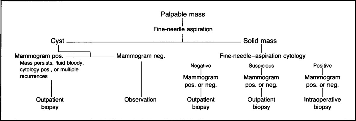 Suggested Management of Palpable Breast Masses in Women.