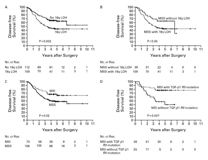 Molecular Predictors of Survival after Adjuvant Chemotherapy for