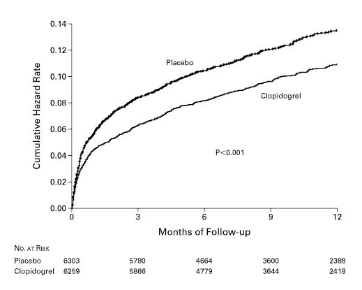 Effects of Clopidogrel in Addition to Aspirin in Patients