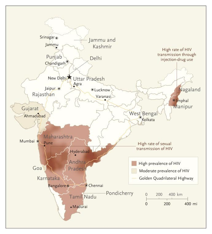 HIV In India — A Complex Epidemic