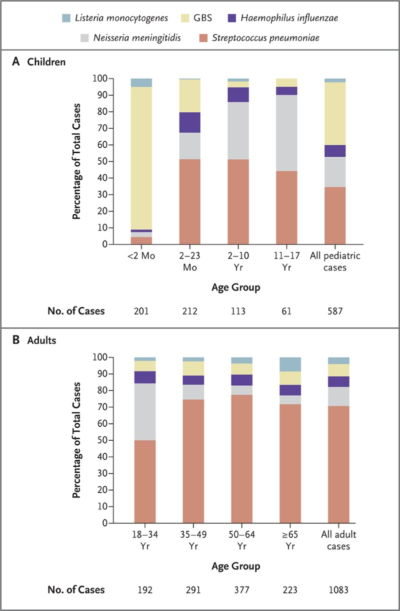 Bacterial meningitis in the united states 1998 2007 nejm for Case costruite per 100k