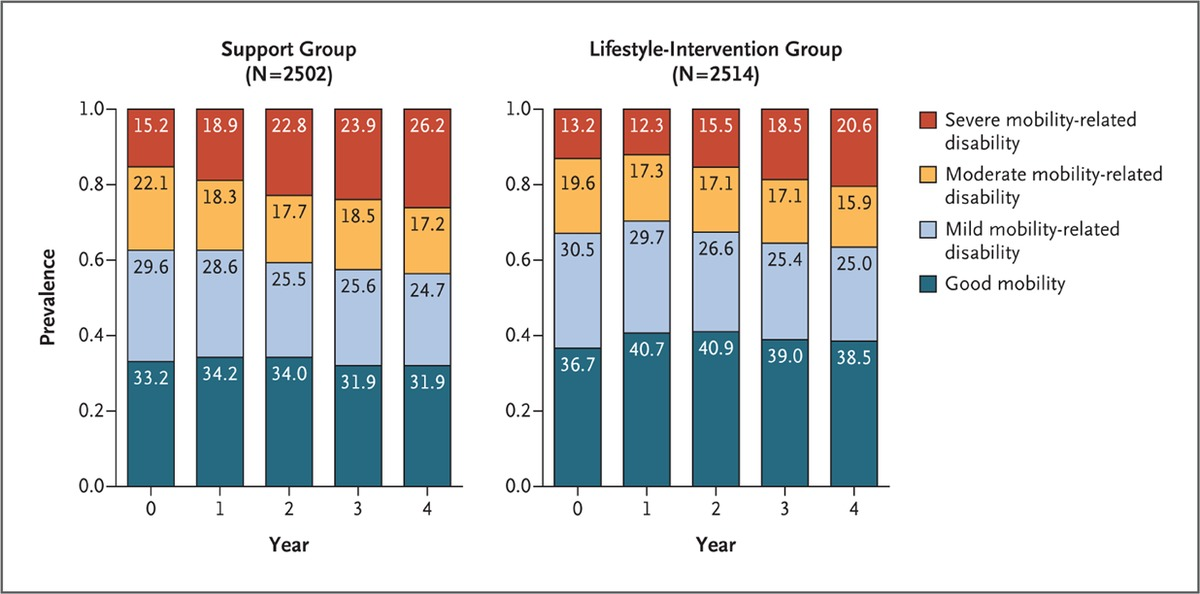 Lifestyle Change And Mobility In Obese Adults With Type 2 Diabetes