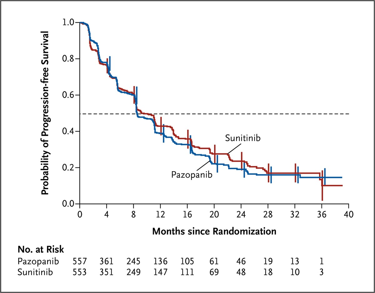 Pazopanib versus sunitinib in metastatic renal cell carcinoma nejm kaplanmeier estimates of progression free survival according to independent review fandeluxe Image collections