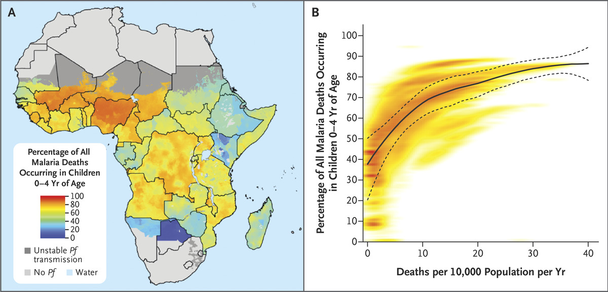 Mapping Plasmodium falciparum Mortality in Africa between 1990 and