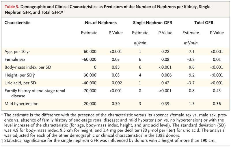 Single Nephron Glomerular Filtration Rate In Healthy Adults Nejm